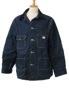1960's Mens Denim Railroad Style Jacket