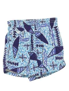1950's Mens Hawaiian Swim Shorts