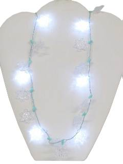 1990's Unisex Accessories - Light Up Christmas Snowflake Necklace