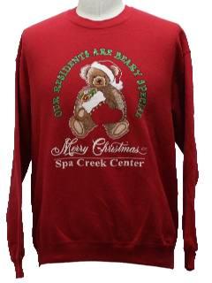 1980's Unisex Bear-ific Ugly Christmas Sweatshirt