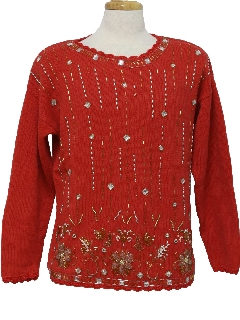 1980's Womens Christmas Cocktail Sweater