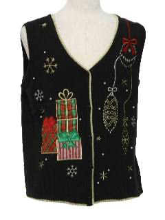 1980's Unisex Ugly Christmas Sweater Vest