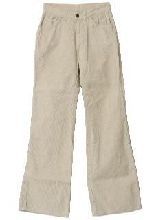 1970's Womens Bellbottom Corduroy Pants