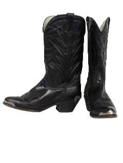 1970's Mens Accessories - Shoes / Leather Western Boots