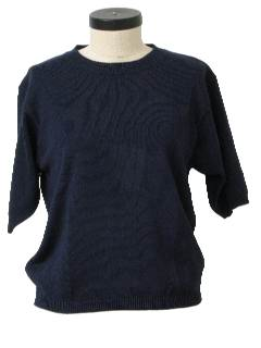 1990's Womens  Sweater Knit Shirt