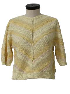 1980's Womens Totally 80s Sweater Knit Shirt
