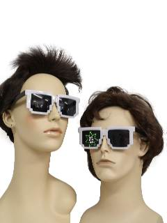 1980's Unisex Accessories: 8-Bit Retro Totally 80s Inspired Wayfarer Style Sunglasses