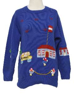 1980's Womens Kitschy Cheesy Ugly Sweater