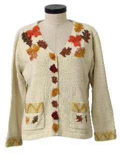 1990's Womens Kitschy Cheesy Ugly Fall Sweater