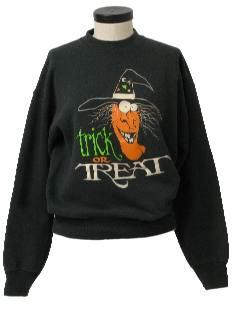 1990's Unisex Cheesy Halloween Sweatshirt