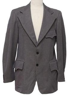 1970's Mens Western Disco Blazer Style Sport Coat Jacket