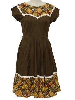 1970's Womens Square dancing Dress