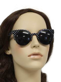 1970's Womens Accessories - Beach Party Mod Style Sunglasses
