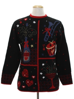 1980's Unisex After Christmas Ugly New Years Eve Sweater