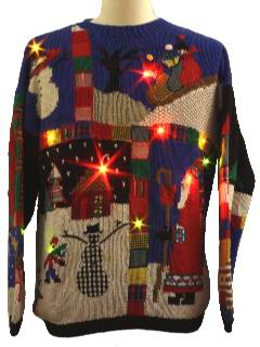 1980's Unisex Ugly-ass Lightup Christmas Sweater