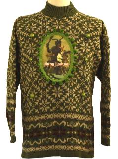 1980's Unisex Ugly Krampus Christmas Sweater