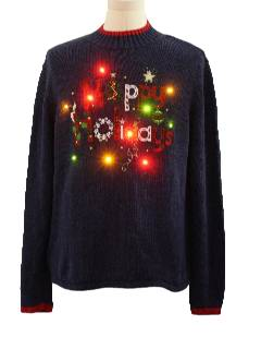 1980's Unisex Lightup Ugly Christmas Sweater