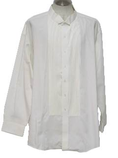 1980's Mens Pleated Tuxedo Shirt