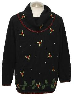 1980's Womens Oversized Slouch Fit Ugly Christmas Sweater