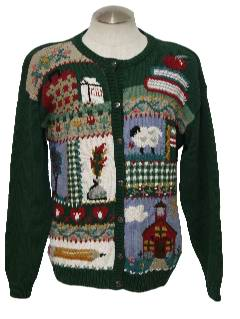 1990's Womens Kitschy Cheesy School or Teachers Ugly Sweater