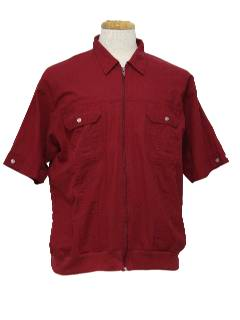 1980's Mens Totally 80s Guayabera Inspired Shirt
