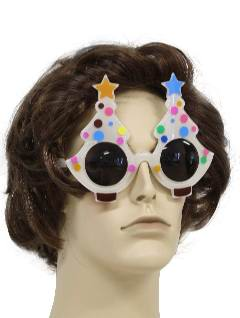 1990's Unisex Accessories - Polka Dot Christmas Tree Sunglasses to wear with your Ugly Christmas Sweater