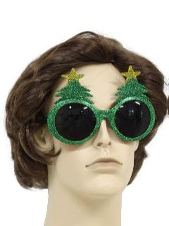 1990's Unisex Accessories - Glittery Christmas Tree Sunglasses to wear with your Ugly Christmas Sweater