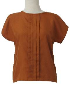1980's Womens Pleated Shirt