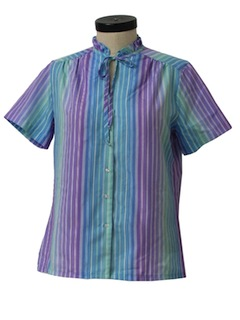 1970's Womens Pleated Shirt