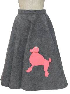 1950's Womens Poodle Skirt