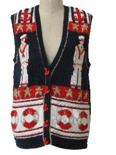 1990's Womens Cheesy Kitschy Ugly Sweater Vest