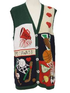 1990's Unisex Cheesy Kitschy Ugly Sweater Vest