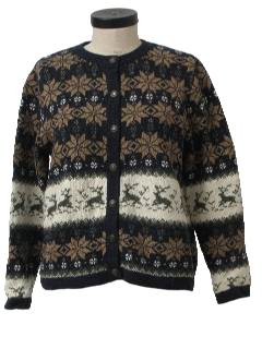 1990's Womens Reindeer Sweater