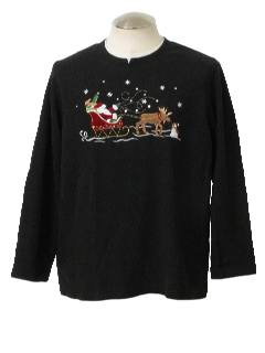 1980's Unisex Ugly Christmas Sweatshirt Style Sweater