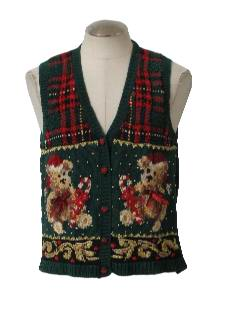 1980's Women Ugly Christmas Sweater Vest