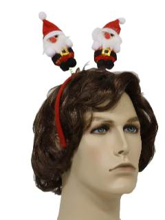 1990's Unisex Ugly Christmas Accessories - Santa Head Bopper Hat