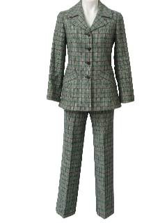 1970's Womens Wool Pantsuit