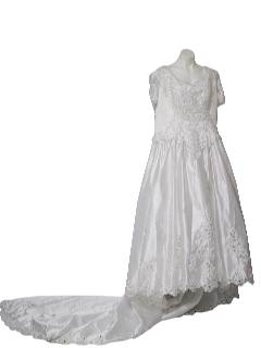 1990's Womens Plus Size Wedding Dress