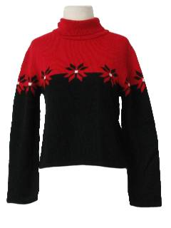 1990's Womens Snowflake Ski Sweater