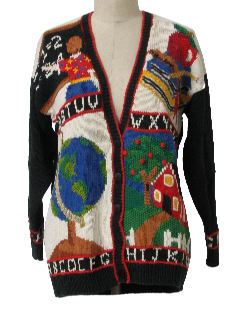 1990's Womens Cheesy Kitschy Sweater