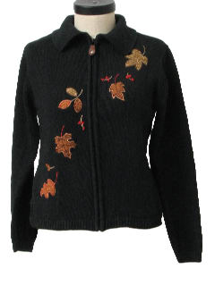 1990's Womens Cheesy Ugly Fall Sweater