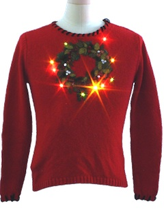 1980's Unisex/Childs Ugly Lightup Christmas Sweater
