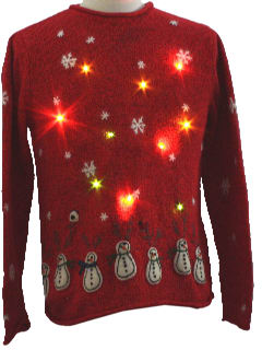 1980's Womens or Girls Lightup Ugly Christmas Sweater