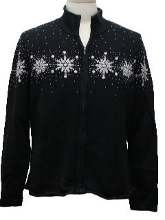 1980's Womens Not-So-Ugly Snowflake Christmas Sweater