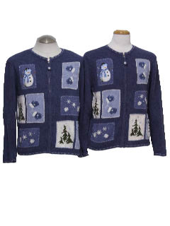 1980's Pair of Unisex Ugly Christmas Sweater