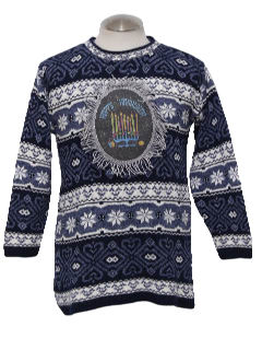1980's Womens/Girls Ugly Hanukkah Christmas Sweater