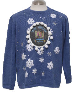 1980's Unisex Ugly Hanukkah Christmas Sweater