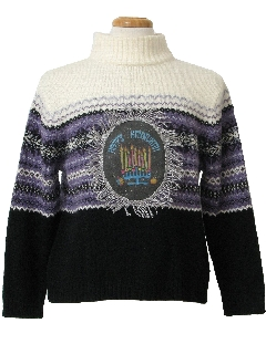 1980's Womens Ugly Hanukkah Christmas Sweater