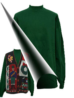 1990's Unisex Accessories - Mock Turtleneck Shirt to wear with your Ugly Christmas Sweater
