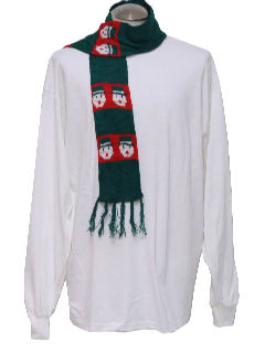 1990's Unisex Accessories - Retro Style Ugly Christmas Snowman Scarf to wear with your Sweater